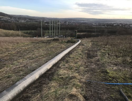 Large Scale Landfill Gas Main Installation Works